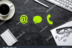 stock-photo-customer-support-company-office-with-contact-us-text-and-signs-top-view-mockup-650033320
